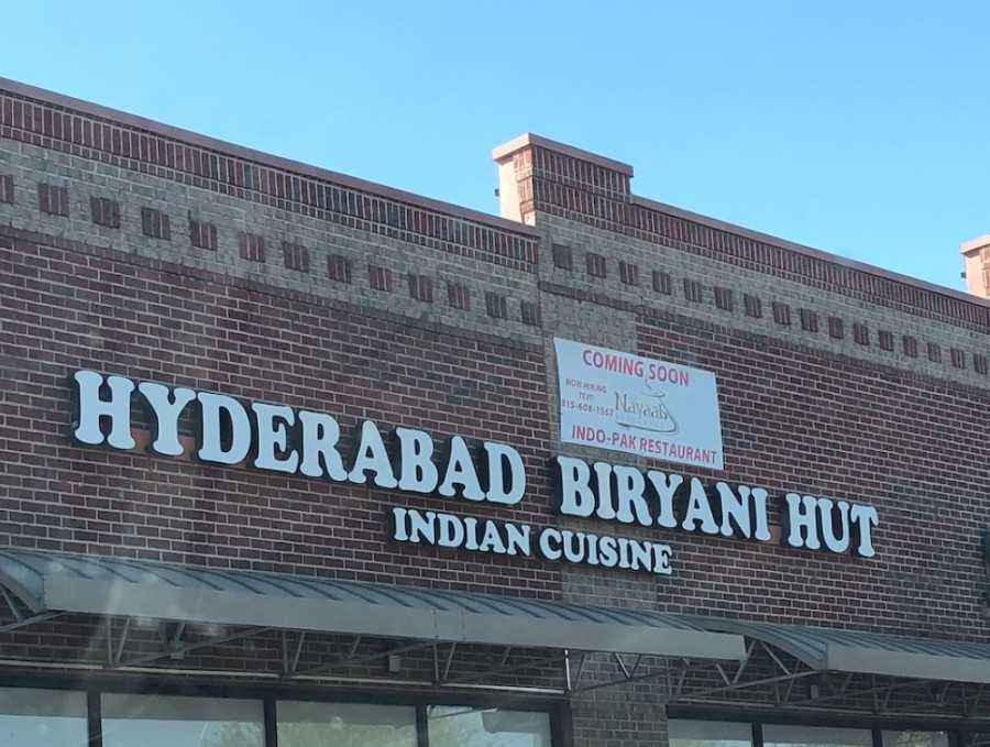 Nayaab Restaurant is taking the place of Hyderabad Biryani Hut. (Claire Shoop/Community Impact Newspaper)