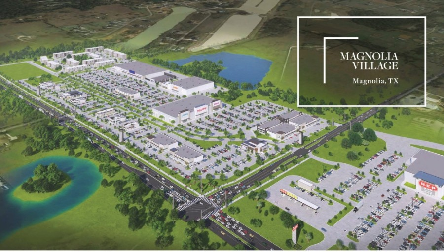 Magnolia Village is a proposed 60-acre mixed-use development located at FM 1488 and Spur 149. (Courtesy Gulf Coast Commercial Group Inc.)