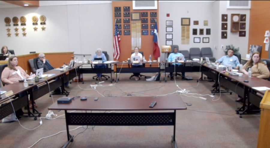 A demographic report breaking down school capacity and projected growth within Hutto ISD was presented to the Hutto ISD Board of Trustees during its April 8 meeting. (Screenshot courtesy Hutto ISD)