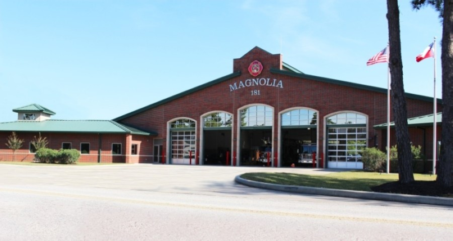 Montgomery County ESD No. 10 meetings are held at Magnolia Volunteer Fire Department Station No. 181, located at 18215 Buddy Riley Blvd., Magnolia. (Kara McIntyre/Community Impact Newspaper)