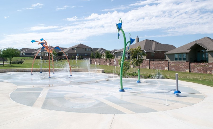 The splash pads at San Jose Park, Downtown Georgetown, Rabbit Hill and Garey Park are now open. (Courtesy Georgetown Parks & Recreation)