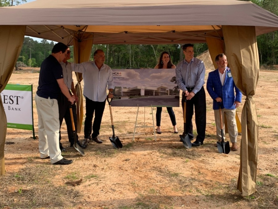 A groundbreaking was held this week for the new Willis Surgery Center, which is expected to open in spring 2022. (Courtesy HCA Healthcare)