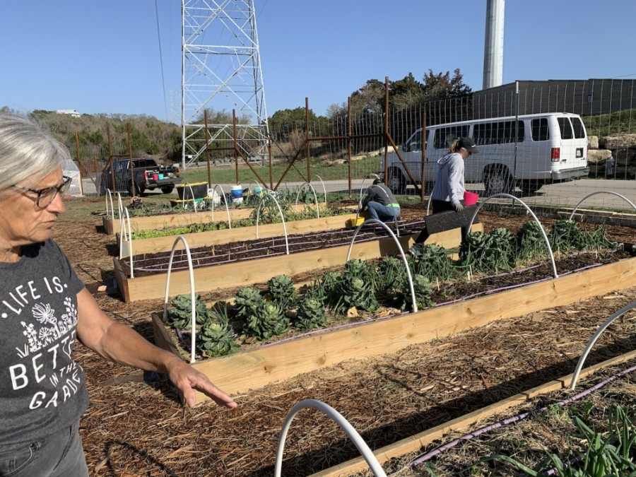 Clara Kistner, Farmacy master gardener, said the community garden operates without the use of chemical fertilizers.