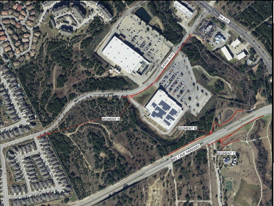Bee Cave City Council approved April 13 constructing trails to connect the Ladera neighborhood in west Bee Cave with commercial areas at RM 620 and Ladera Boulevard. (Courtesy city of Bee Cave)
