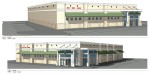 Elevations of the front of the proposed Goody Goody store