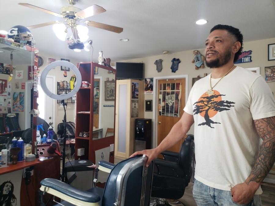 Nik Shanklin opened Papa Frank's Barber Shop in 2011. (Ali Linan/Community Impact Newspaper)