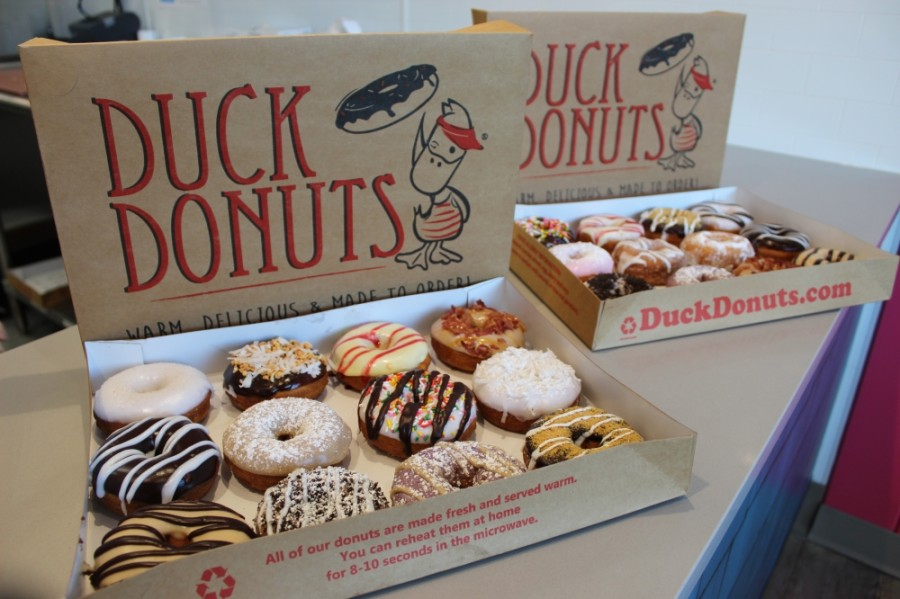 Duck Donuts will open in Brentwood on April 18. (Photos by Wendy Sturges/Community Impact Newspaper)