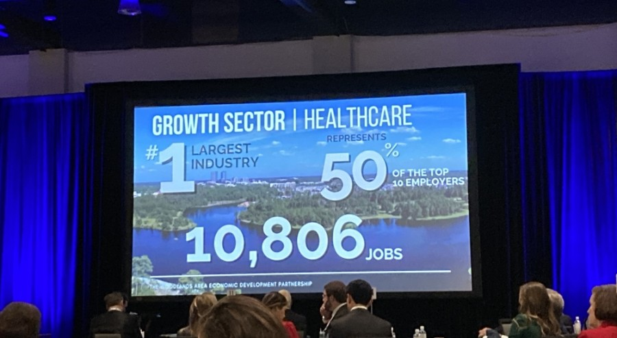 Among data presented at the 2021 Economic Outlook Conference presented by The Woodlands Area Chamber of Commerce, health care maintains its hold on the No. 1 spot among major nonretail employers. (Vanessa Holt/Community Impact Newspaper)