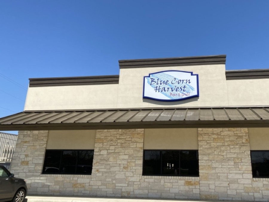 Blue Corn Harvest Leander is located at 11840 Hero Way W., Bldg. A, Leander. (Taylor Girtman/Community Impact Newspaper)