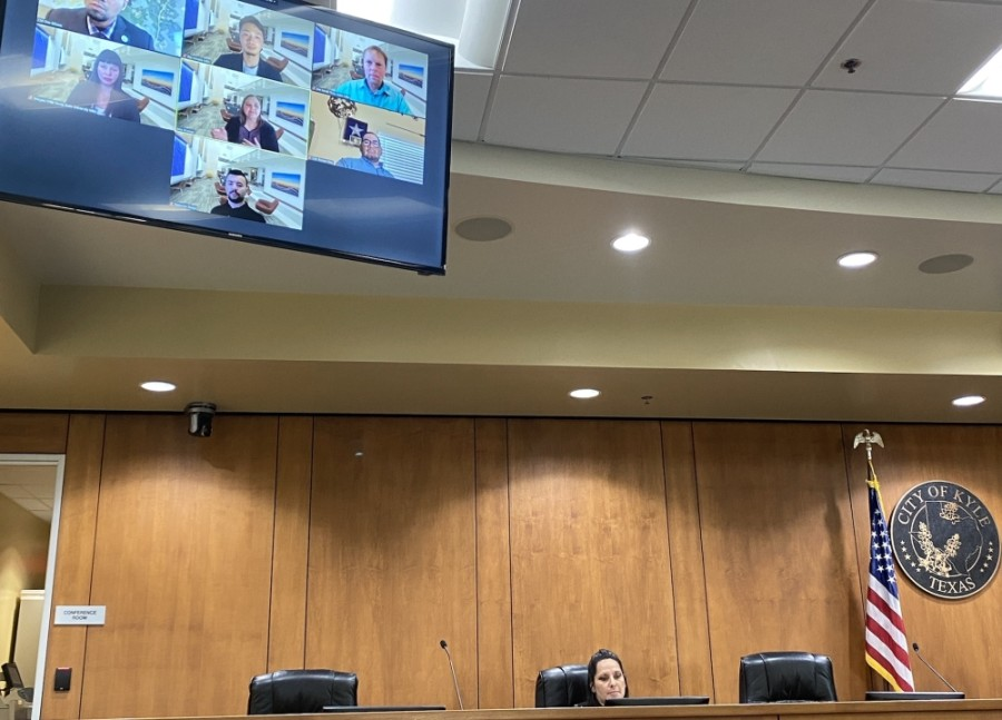 A team from Texas State University presented findings to Kyle City Council on an ongoing ride-hailing partnership with Uber. (Brian Rash/Community Impact Newspaper)