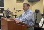 Kyle Police Chief Jeff Barnett addressed council April 20 regarding an ordinance restricting sex offenders' residency in the city. (Brian Rash/Community Impact Newspaper)