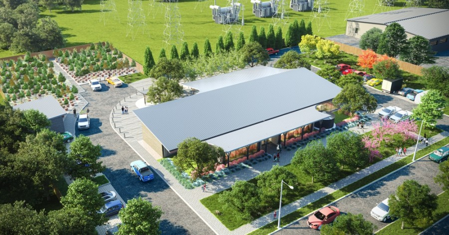A new permanent campus for Trees for Houston will include 1.5 acres that will feature an on-site tree nursery, office space and an education center. (Courtesy Trees For Houston)