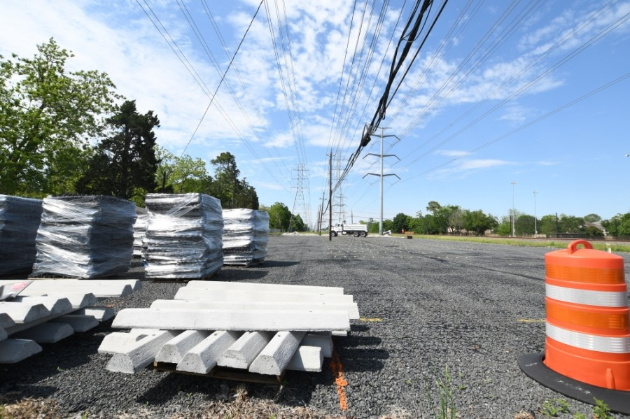 Crews have begun to remove the parking lot at 4300 Bellaire Blvd., Bellaire, as a result of a settlement, the city of Bellaire confirmed April 20. (Hunter Marrow/Community Impact Newspaper)