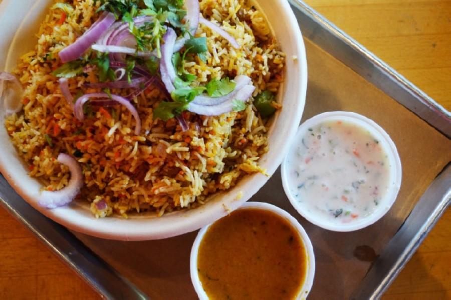 lamb kheema fried rice