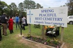 The Old Town Spring Heights Community Association and Harris County Historical Commission hosted a historical marker dedication ceremony April 18 at Spring Peaceful Rest Cemetery. (Hannah Zedaker/Community Impact Newspaper)