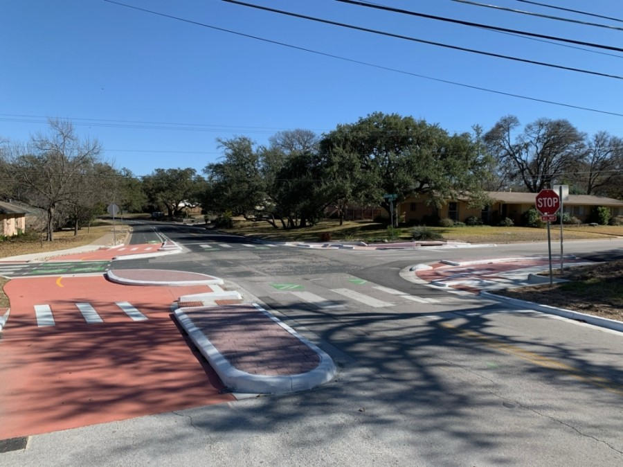 New intersections are now in place near two elementary schools in South Austin. (Courtesy Austin Transportation Department)