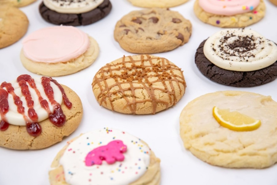 Crumbl Cookies offers a weekly rotating menu of fresh-baked cookies. (Courtesy Crumbl Cookies)