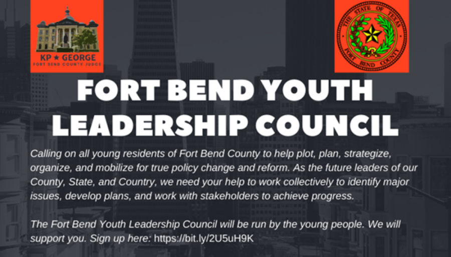 The youth-led group will work with a team of mentors to strategize, organize and mobilize for policy change and reform on issues they deem important. (Courtesy Fort Bend County)