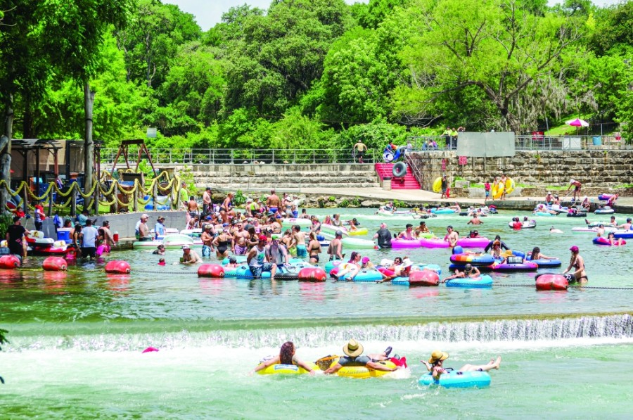 Tubers took to the river in early summer of 2020 before COVID-19 closures and restrictions took effect.  (Warren Brown/Community Impact Newspaper)