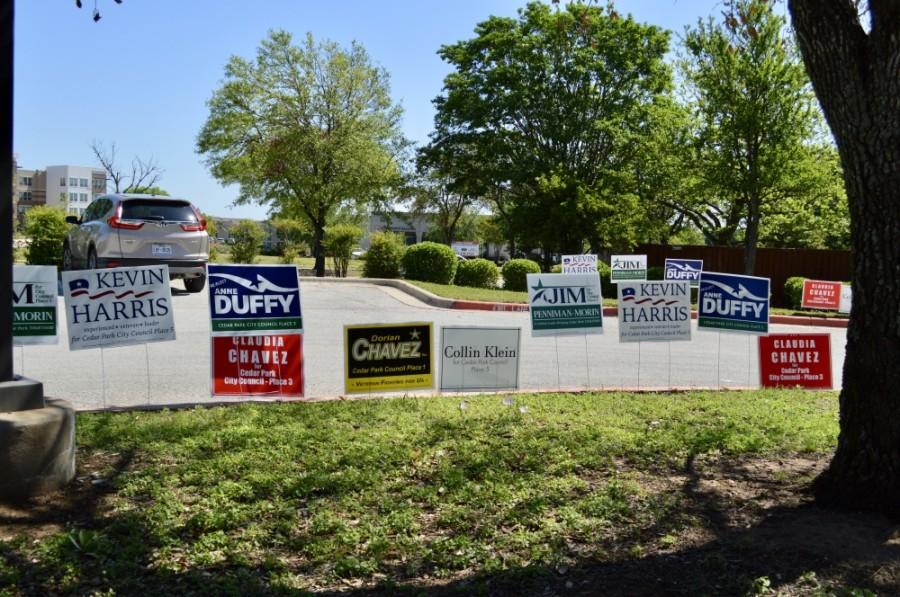 Cedar Park candidate signs