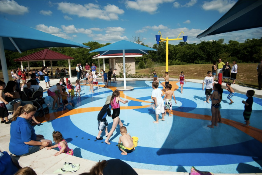 Falcon Pointe Splash Pad is expected to open May 29. (Courtesy city of Pflugerville)