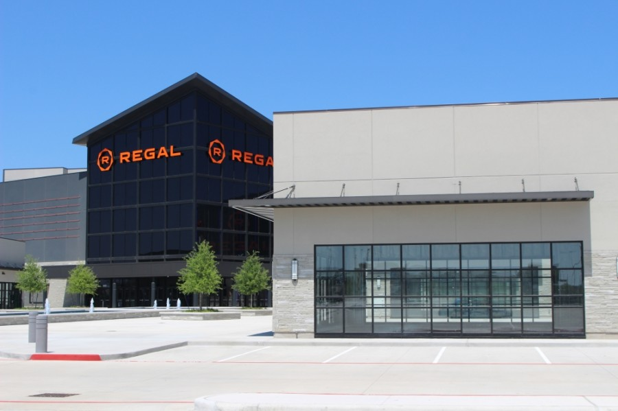 Regal Benders Landing construction is nearly finished. (Andrew Christman/Community Impact Newspaper)