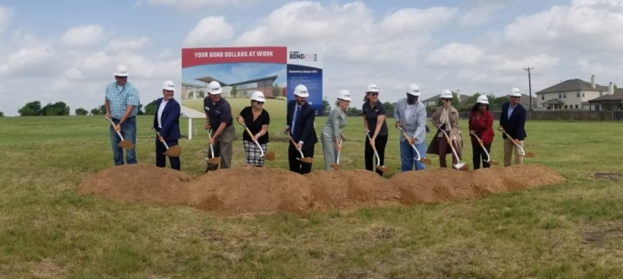Construction will now begin on PfISD's Elementary School No. 23 after the ground breaking April 28. (Courtesy: PfISD Twitter)