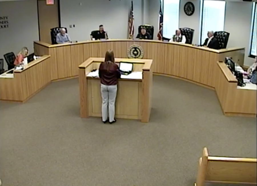 The Montgomery County Commissioners Court discussed a goal for the upcoming budget during an April 27 meeting. (Screenshot via Montgomery County livestream)
