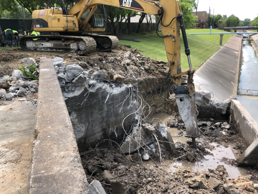 A contractor for the city of West University Place has broken ground on a drainage and road surface replacement project. (Courtesy city of West University Place)