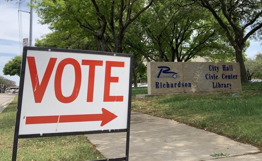 Vote sign.
