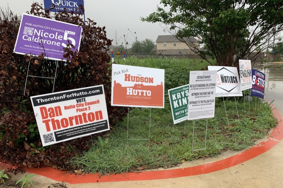 Final unofficial results are in for the Hutto May 1 election. (Megan Cardona/Community Impact Newspaper)