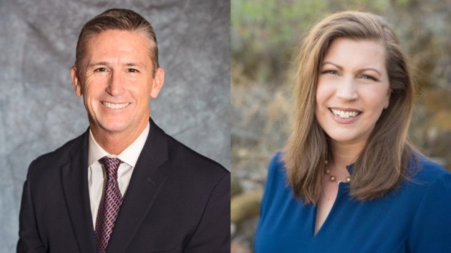 Cameron Bryan and Hannah Smith will serve as Carroll ISD's newest trustees. (Courtesy Bryan and Smith)