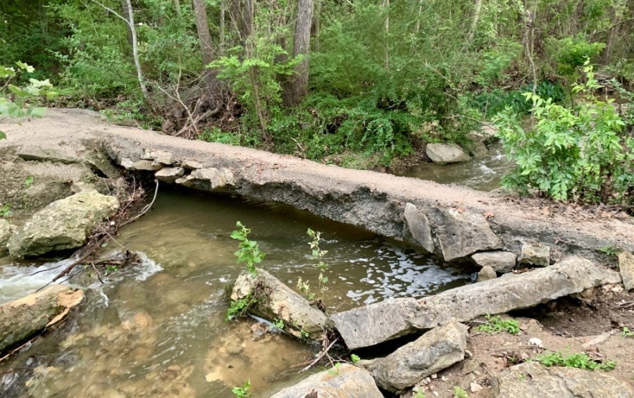 Lakeway City Council discussed May 3 the need to improve a Hurst Creek footbridge as part of an overall discussion of needed capital improvements. (Greg Perliski/Community Impact Newspaper)