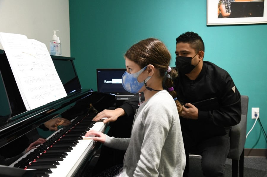 Vivaldi Music Academy offers lessons in a variety of instruments. (Hunter Marrow/Community Impact Newspaper)