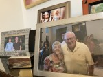 Photos in the home of Barbara and the late Don Gebert show the couple and other family members over their decades together. (Vanessa Holt/Community Impact Newspaper)