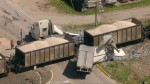 A train collided with an 18-wheeler near Hwy. 90A and Second Street in Richmond on May 6. (Courtesy ABC 13)