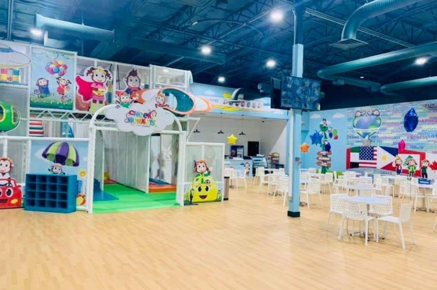 Inside play areas at Cheeky Monkeys