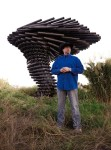 King and his team constructed the Ringing Singing Tree, a 17-foot-tall, 20-ton wind powered sound sculpture, in 2015. The project is on display outside of Austin. (Courtesy JK Welding)