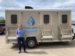Founded by Jennifer Park in 2019, Moving Waters aims to improve the quality of life for homeless individuals across the Greater Houston area by providing mobile shower and hygiene stations through partnerships with other assistance organizations. (Courtesy Moving Waters)