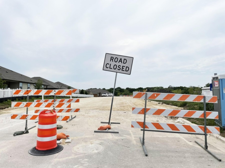 Once the project is complete, Logan Street will extend to A.W. Grimes Boulevard. (Megan Cardona/Community Impact Newspaper)