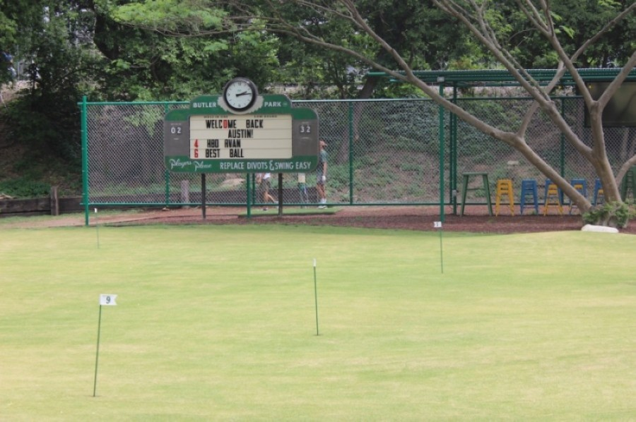 Butler Park Pitch & Putt reopened to the public in April. (Ben Thompson/Community Impact Newspaper)