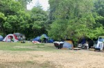 Under the city of Austin's phased enforcement plan released May 10, citations at public encampments will begin in mid-June to be followed by arrests and clearances in July as necessary. (Ben Thompson/Community Impact Newspaper)