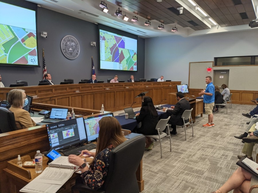A large group of New Braunfels residents expressed displeasure with City Council over the city's growth and several rezoning ordinances under consideration. (Warren Brown/Community Impact Newspaper)