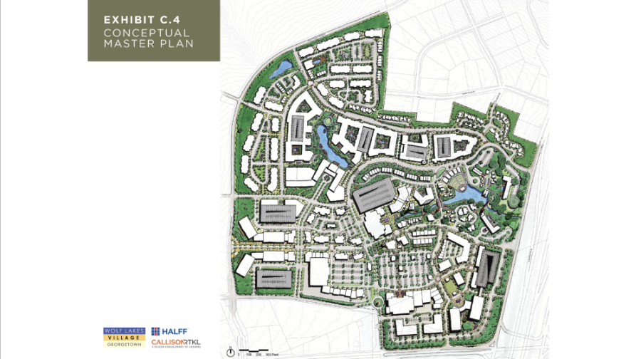 Council approved a zoning map amendment that would allow for additional flexibility in design to accommodate for new H-E-B at Wolf Lakes Village. (Courtesy City of Georgetown)