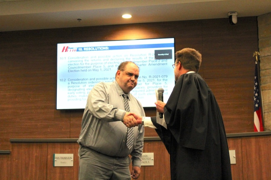 Council Member Dan Thornton was appointed to the Place 2 seat in September 2020 following the resignation of former Council Member Tom Hines. (Megan Cardona/Community Impact Newspaper)