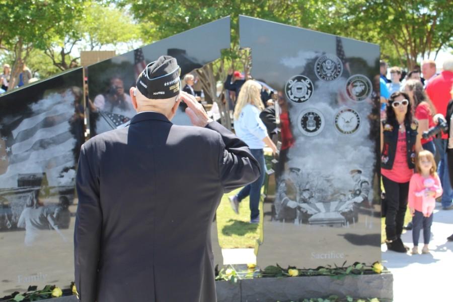 man in uniform doing salute