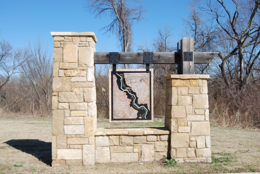 Located along West Rowlett Creek, Taychas Trail runs from Limestone Quarry Park to Harold Bacchus Community Park and then north to Main Street. (Courtesy city of Frisco)