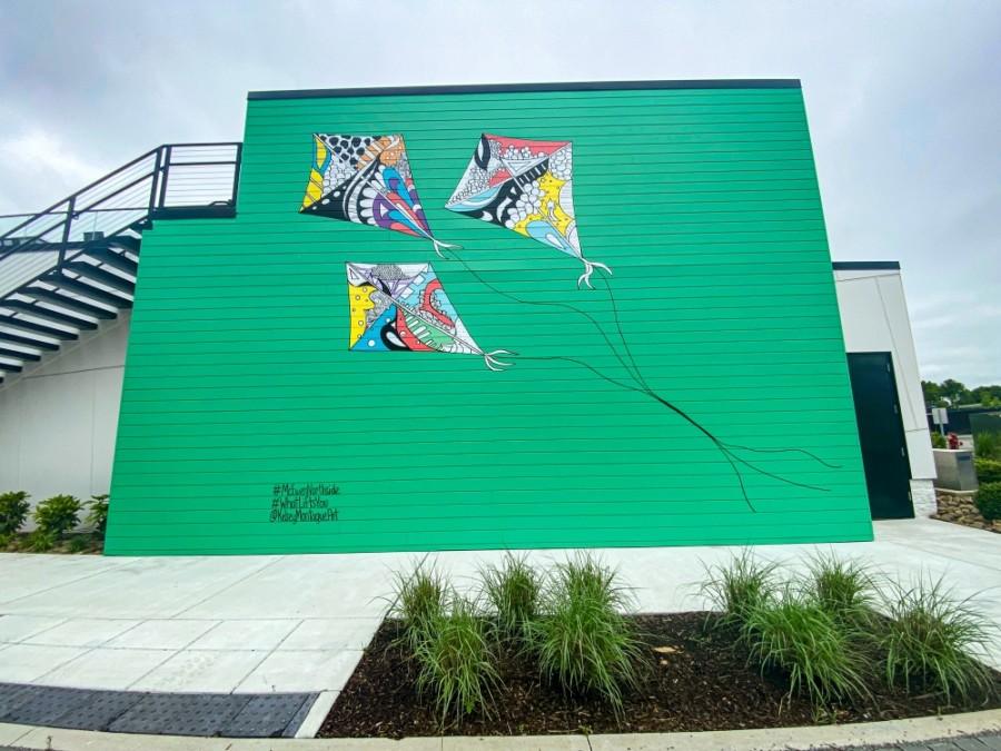 The new mural is located in McEwen Northside. (Courtesy McEwen Northside, Kelsey Montague)