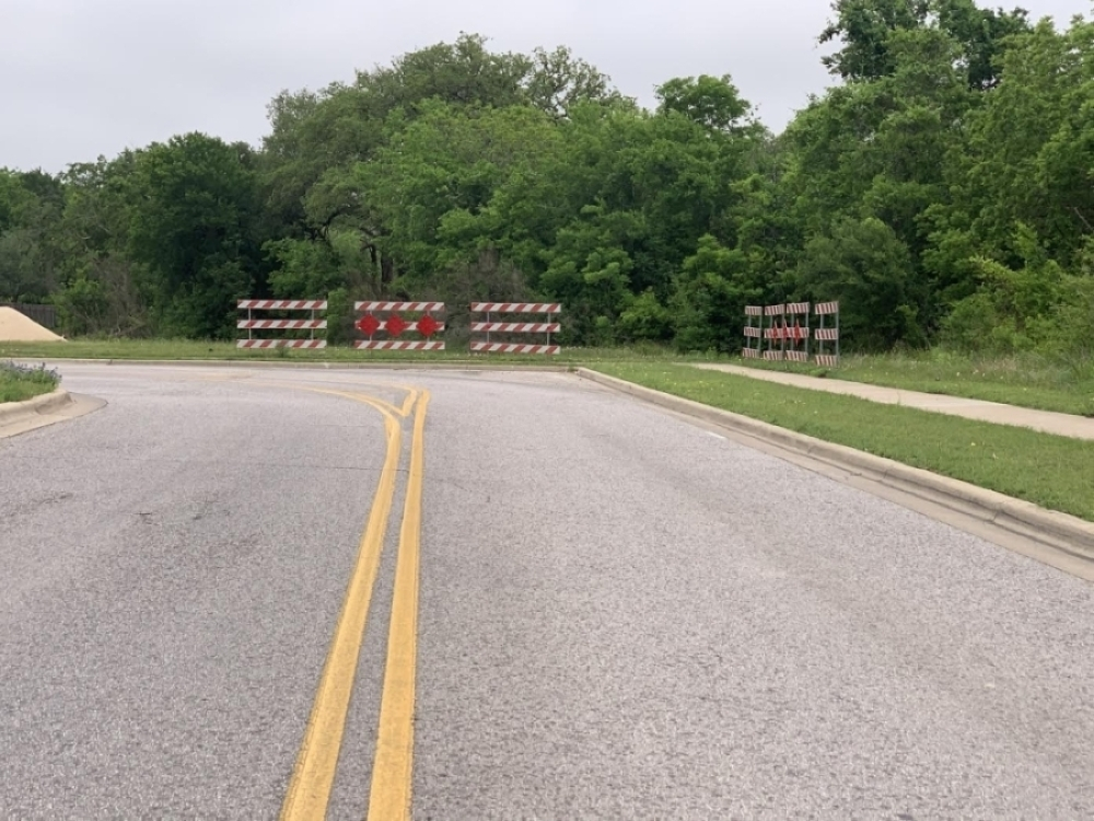 The extension of Kenney Fort Boulevard is underway north of Hwy. 79. (Amy Bryant/Community Impact Newspaper)