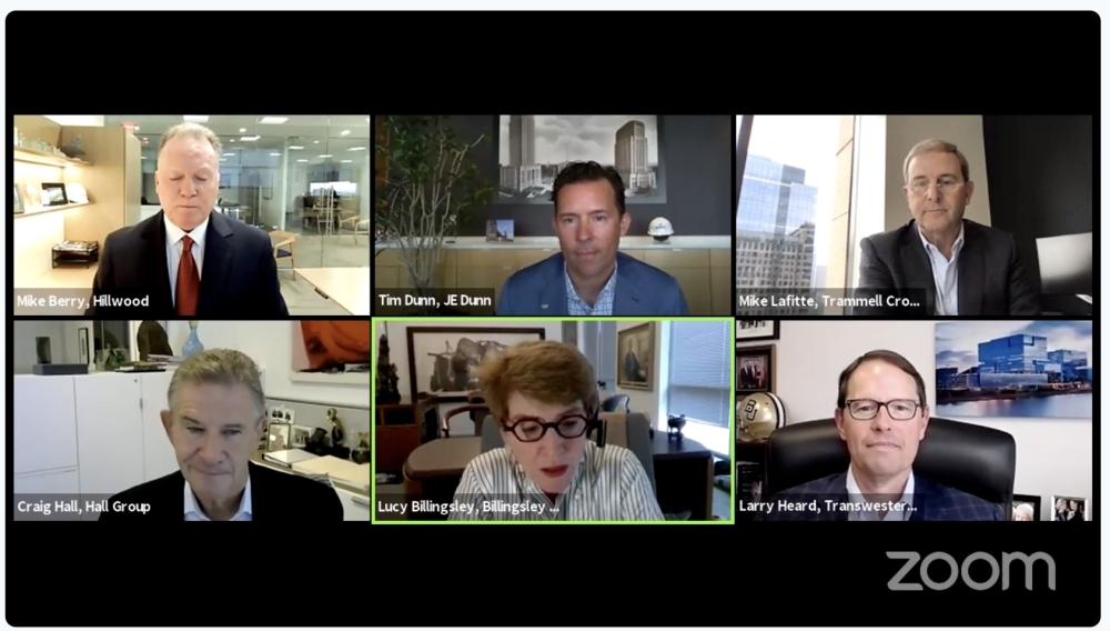 Real estate investors and experts discuss the draw of Texas during the June 23 Bisnow Digital Summit. (Screenshot by Miranda Jaimes/Community Impact Newspaper)